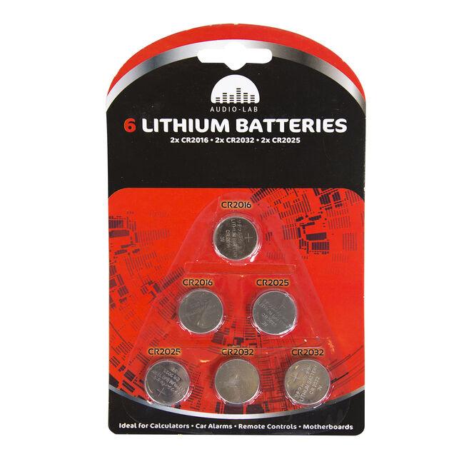 Audio Lab 6 Lithium Batteries