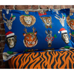 Wild Christmas Oxford Pillowcase Pair