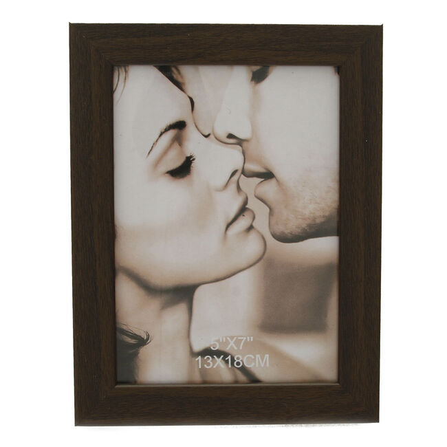 Brown Photo Frame 5 x7""