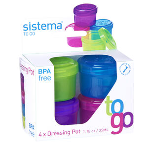Salad to Go Dressing Pots 4Pk
