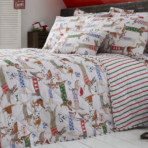 Festive Dogs Bedspread