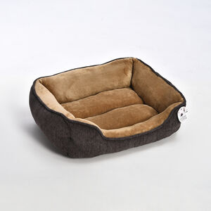 Chenille & Coral Fleece Pet Bed - Small