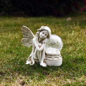 Sleeping Fairy with Crackled Ball Solar Light