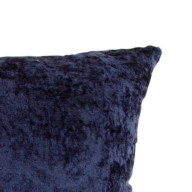 Velvet Crush Cushion Cover 2 Pack 45x45cm - Navy