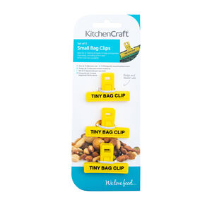 Kitchen Craft Small Bag Clips 3 Pack