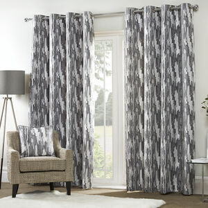 ETCH CHARCOAL 66x54 Curtain