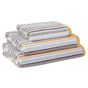500GSM MCMARTIN STRIPE GREY/OCHRE Hand Towel