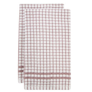 Mono Check Blush Tea Towels 2 Pack