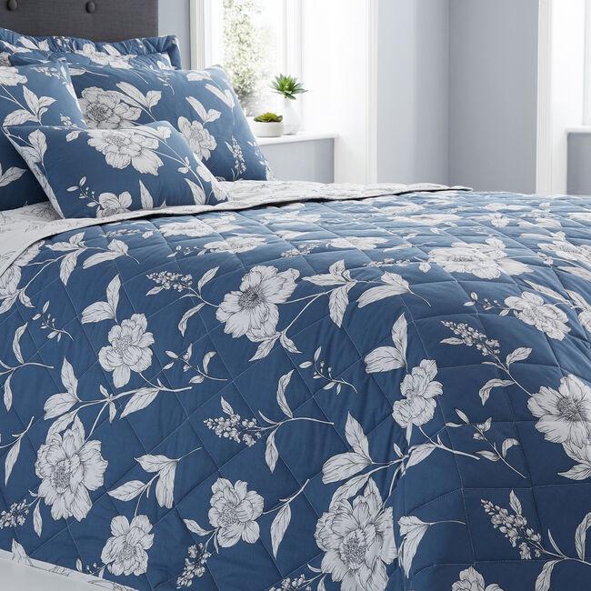 Caroline Blue Bedspread 200x220cm