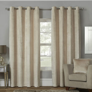 EMBOSSED NATURAL 66x54 Curtain