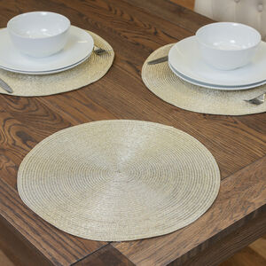 Round Shimmer Gold Placemat