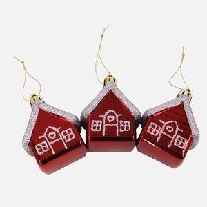 3D Glitter Christmas Houses - 3 Pack