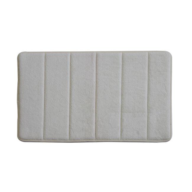 Memory Foam Bath Mat Cream 40cm x 60cm