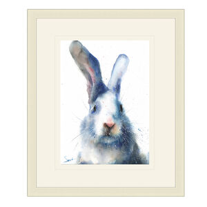 White Rabbit Framed 38cm x 48cm