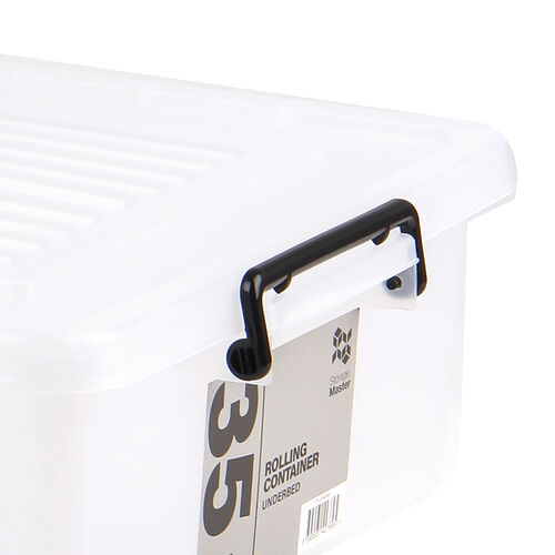 Rolling Underbed Storage Box with Lid 35L