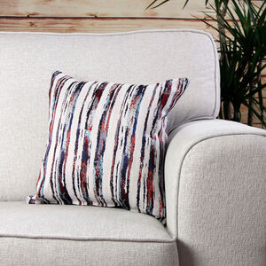 Aoife Striped Red Cushion
