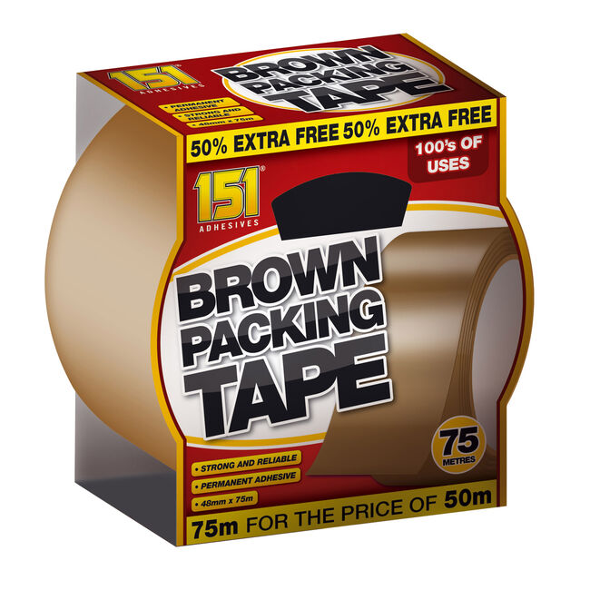 151 Brown Packing Tape 75M