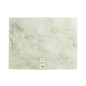Marble Glass Worktop Saver - White