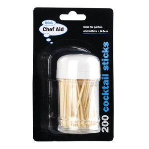 Chef Aid 200 Bamboo Toothpicks