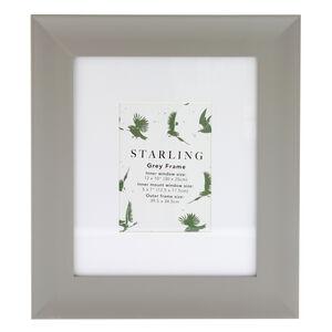 5x7 Mount Starling Grey Frame