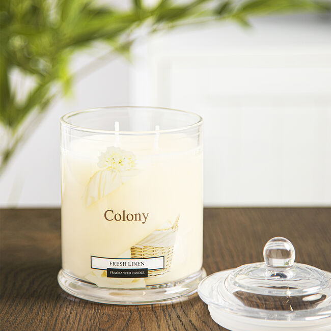 Colony Fresh Linen Candle 12.6oz