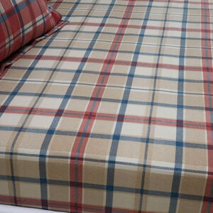 BRUSHED COTTON FOGARTY CHECK Single Fitted Sheet