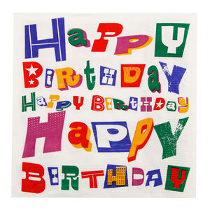 Birthday Words Napkins 20 Pack