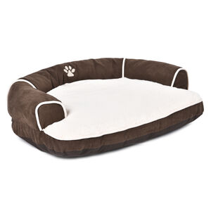 Brown & Beige Sofa Pet Bed Large