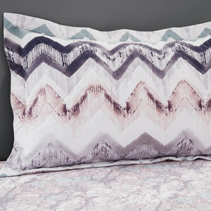 Hannah Grey/Blush Pillowshams 50cm x 75cm