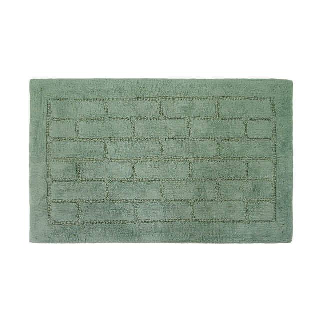 Cotton Brick Duck Egg Bath Mat