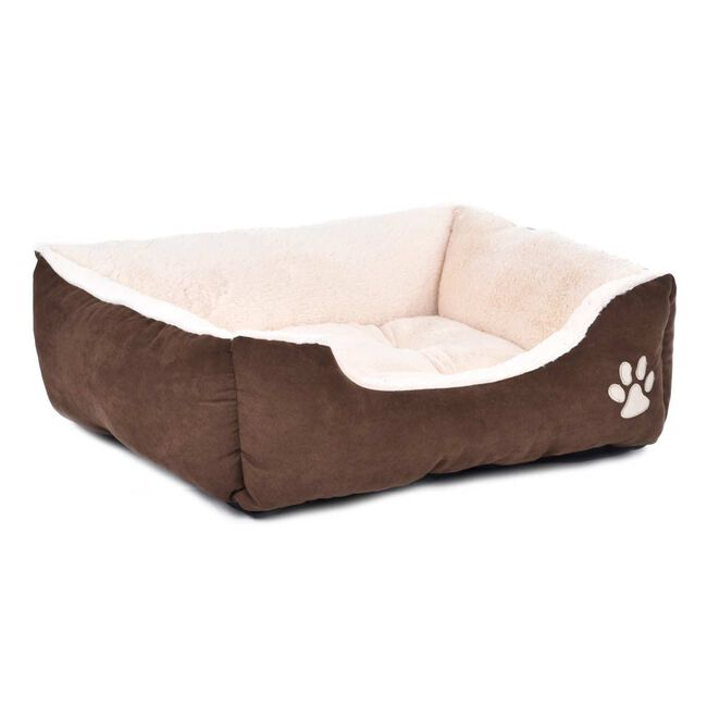 Brown & Beige Pet Bed Medium