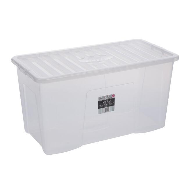 Crystal Box & Lid Clear 110L