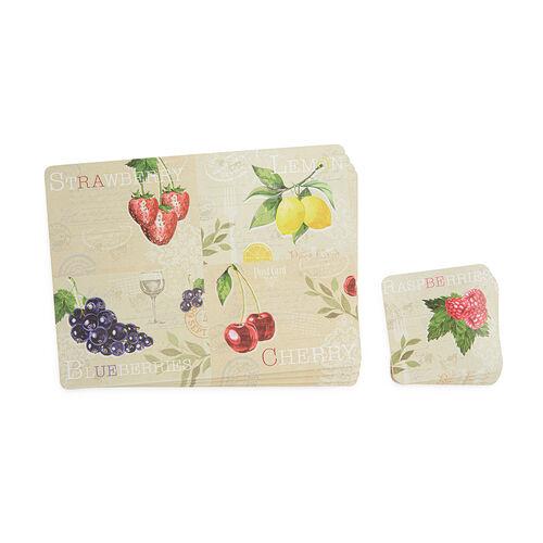 Fruit Mats & Coasters 4 Pack