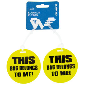 Luggage ID Tags Text