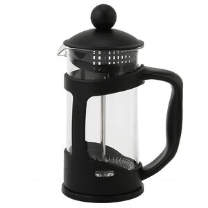 Glona Black Glass Cafetiere 350ml