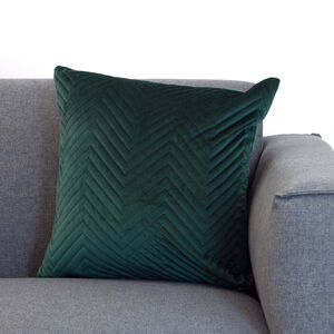 Triangle Stitch Cushion 58x58cm - Green
