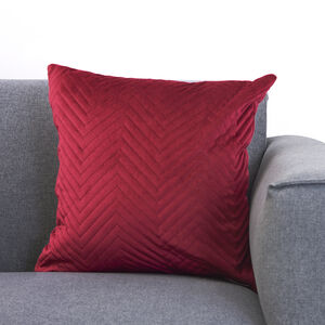 Triangle Stitch Cushion 58x58cm - Burgundy