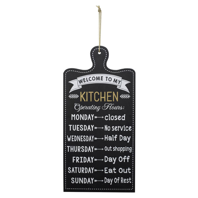 Kitchen Schedule 48x24cm