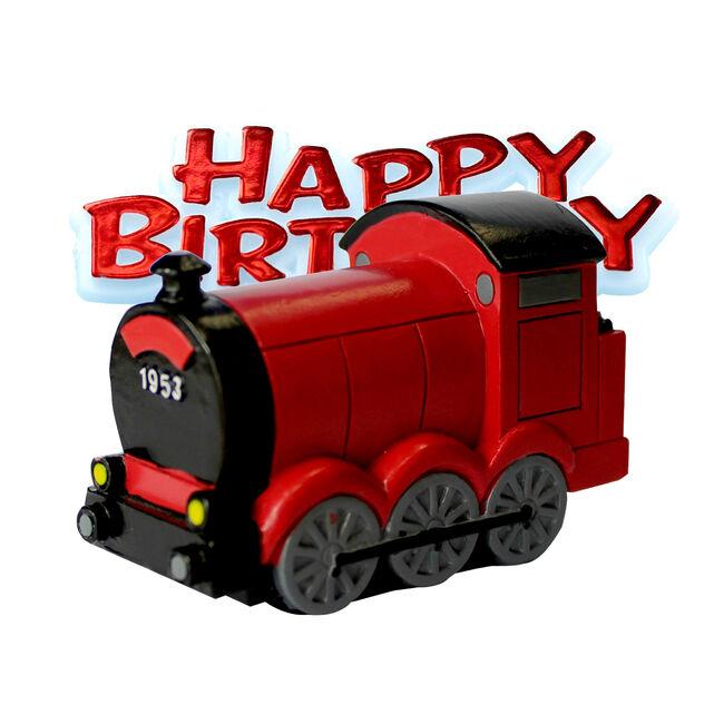 Train Resin Cake Topper