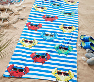 Nicole Day Cool Crab Beach Towel 76x160cm