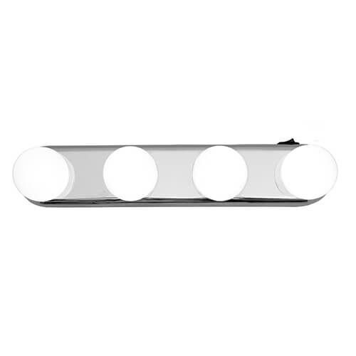 LED Stick on Mirror Bulb Lights - 4 Piece