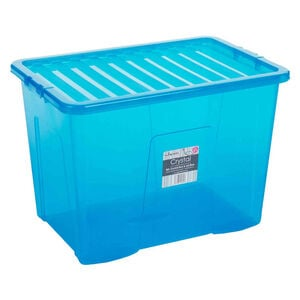 Crystal Box & Lid Blue 80L
