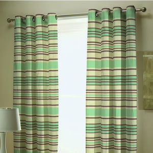 Chenille Stripe Curtains