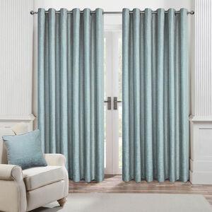 BRICKS DUCK EGG  66x72 Curtain