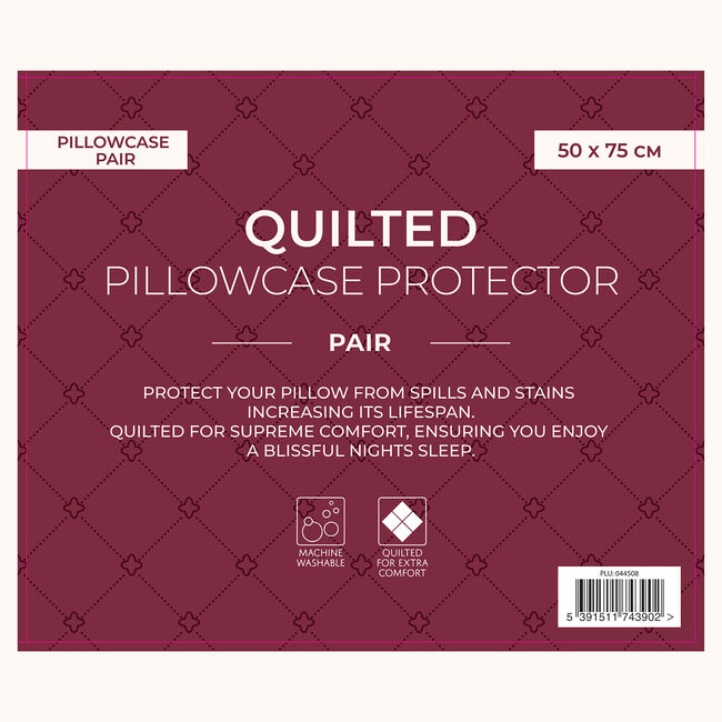 Pillowcase Protector Quilted Pair