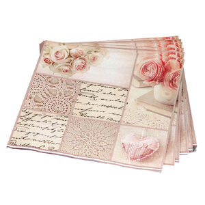 Patchwork Rose Napkins 20 Pack - Pink