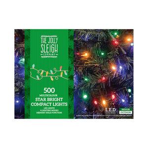 500 Multicolour Star Bright Compact Lights