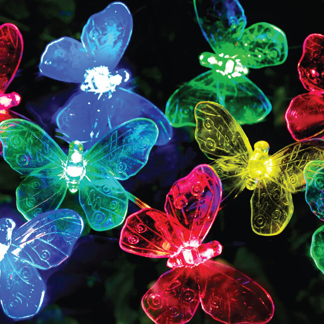 Solar String LED Butterfly Lights