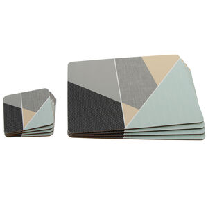 Lady Geo Mats and Coasters 4 pack