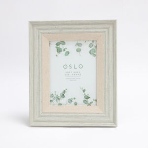 Oslo Soft Grey Photo Frame 6x8""